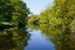 Ansicht über den Fluss Liffey Stockfoto