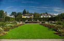 Ansicht über den Garten Stockfotos