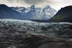 Ansicht über den Gletscher Stockfotografie
