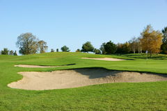Ansicht über den Golfplatz Stockbilder