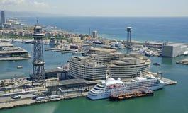 Ansicht über den Hafen, Barcelona Lizenzfreies Stockfoto