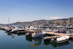 Ansicht über den Hafen in Cavala, Griechenland Lizenzfreie Stockfotografie
