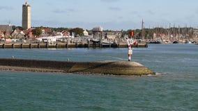 Ansicht über den Hafen des Westens-Terschelling lizenzfreie stockfotos