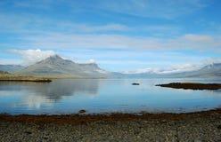 Ansicht über den isländischen Schacht Stockbild