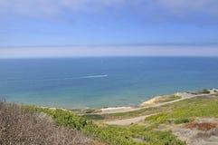 Ansicht über den Pazifischen Ozean Stockbilder