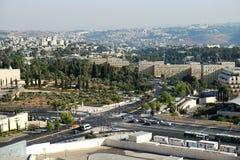 Ansicht über den Regierungscampus in Jerusalem Stockbilder