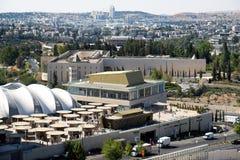 Ansicht über den Regierungscampus in Jerusalem Stockfotografie