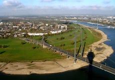 Ansicht über den Rhein Lizenzfreie Stockfotografie