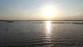 Ansicht über den See stock footage