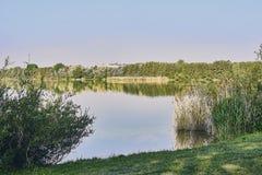 Ansicht über den See viehofen Lizenzfreies Stockfoto