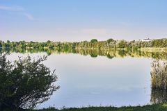 Ansicht über den See viehofen Lizenzfreies Stockbild