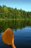 Ansicht über den See vom Boot Lizenzfreie Stockfotografie