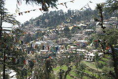 Ansicht über Dharmshala Lizenzfreie Stockfotos