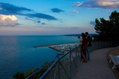 Ansicht über die adriatische Küste in Numany, Italien Lizenzfreie Stockbilder