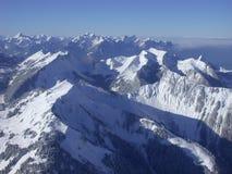 Ansicht über die Alpen Stockbild
