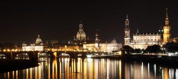 Ansicht über die barocken Skyline der Stadt von Dresden Lizenzfreie Stockfotografie