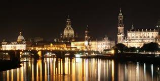 Ansicht über die barocken Skyline der Stadt von Dresden Stockfotografie