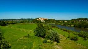 Ansicht über die Benediktiner-Abtei von Tyniec Lizenzfreie Stockfotos