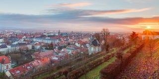 Ansicht über die berühmte Tourismusstelle von wenigem Venedig vom Michaelsberg in Bamberg Lizenzfreies Stockfoto