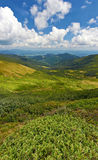 Ansicht über die Berge stockfotos