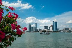 Ansicht über die chinesische Stadt von Xiamen lizenzfreies stockfoto