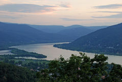 Ansicht über die Donau Stockbilder