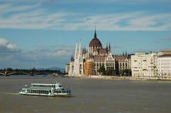 Ansicht über die Donau in Budapest Lizenzfreie Stockfotos