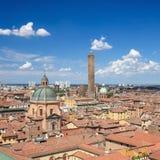 Ansicht über die historische Mitte von Bologna, Italien stockfoto