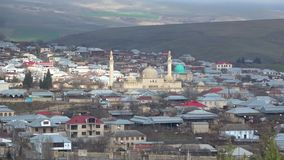 Ansicht über die Juma-Moschee in Shamakha azerbaijan stock video footage