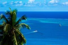 Ansicht über die Lagune von moorea Insel lizenzfreie stockbilder