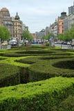 Ansicht über die Mitte von Wenceslas Square Lizenzfreies Stockfoto