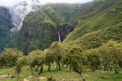 Ansicht über die Simien Berge Stockfotos