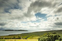 Ansicht über die Sommerinseln in Nord-Schottland stockfoto