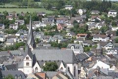 Ansicht über die Stadt Mayen stockfoto
