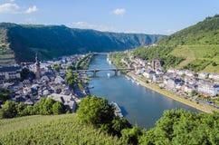 Ansicht über die Stadt von Cochem, Deutschland lizenzfreies stockbild