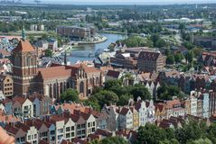 Ansicht über die Stadt von Gdansk, Polen stockfoto