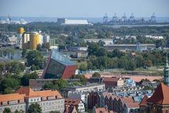 Ansicht über die Stadt von Gdansk, Polen stockbilder