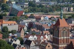 Ansicht über die Stadt von Gdansk, Polen lizenzfreies stockfoto