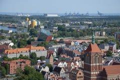 Ansicht über die Stadt von Gdansk, Polen lizenzfreies stockbild