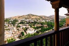 Ansicht über die Stadt von Granada gesehen vom Alhambra, Granada und Stockbilder