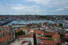 Ansicht über die Stadt von Istanbul, die Türkei Lizenzfreie Stockbilder