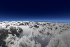 Ansicht über die Wolken Vektor Abbildung