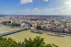 Ansicht über Donau in Budapest Stockbilder