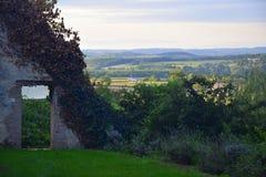Ansicht über Dordogne-Landschaft stockbild
