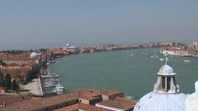 Ansicht über Dorsoduro, Venedig stock video
