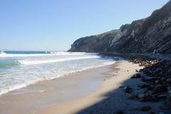 Ansicht über Duma Point, Malibu Kalifornien Lizenzfreie Stockfotos