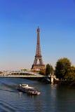 Ansicht über Eiffelturm, Paris, Frankreich Lizenzfreie Stockfotos