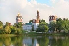 Ansicht über ein altes Kloster Stockbild
