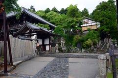 Ansicht über einen der Tempel in Nara, Japan Stockbilder