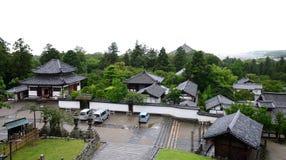 Ansicht über einen der Tempel in Nara, Japan Stockfotografie